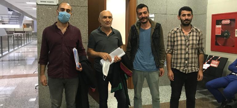 MA muhabirleri İdris Sayılğan ve Naci Kaya hâkim karşısına çıktı